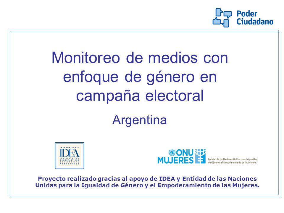 Monitoreo de medios con enfoque de género en campaña electoral