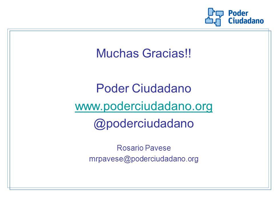 Muchas Gracias!! Poder Ciudadano www.poderciudadano.org