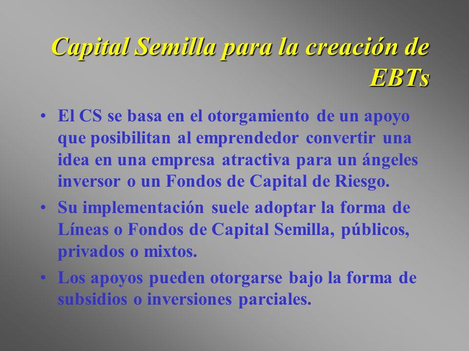Capital Semilla para la creación de EBTs