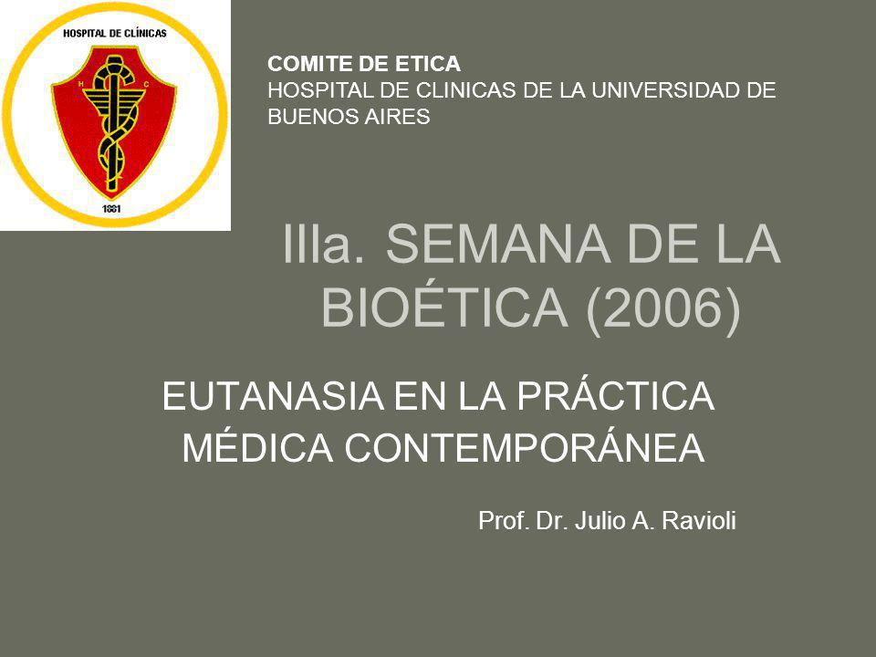IIIa. SEMANA DE LA BIOÉTICA (2006)