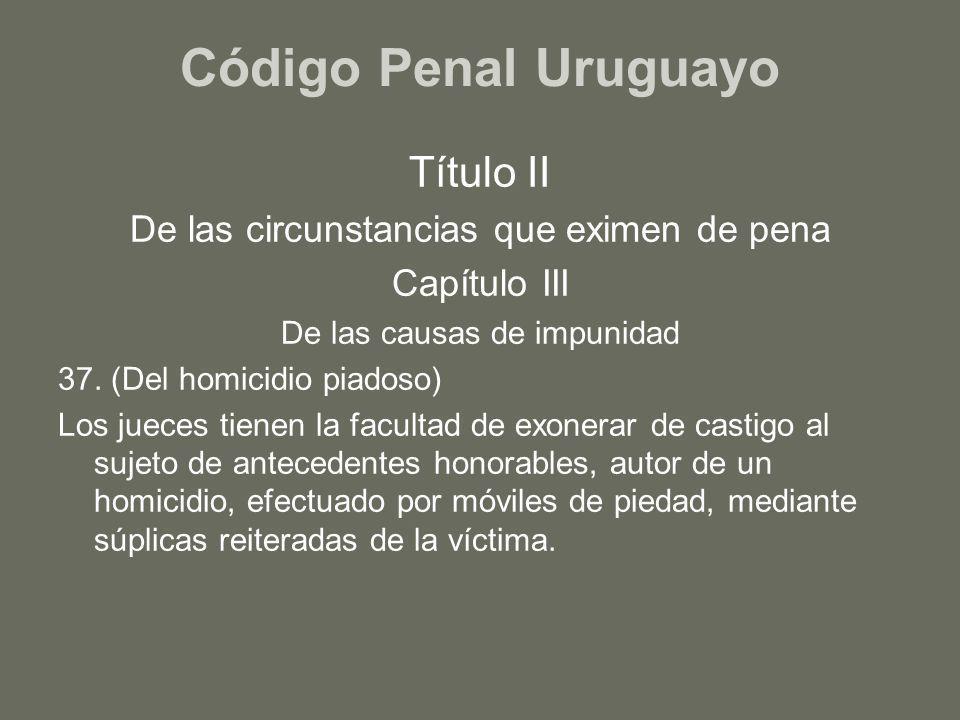 Código Penal Uruguayo Título II