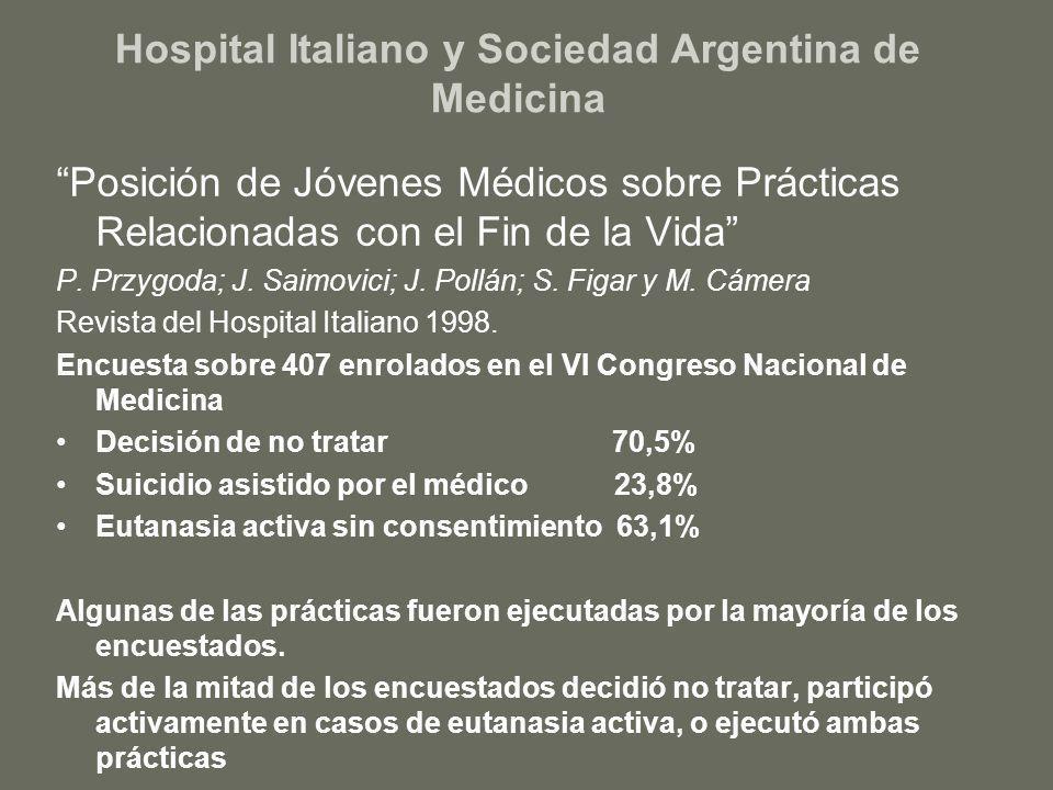 Hospital Italiano y Sociedad Argentina de Medicina
