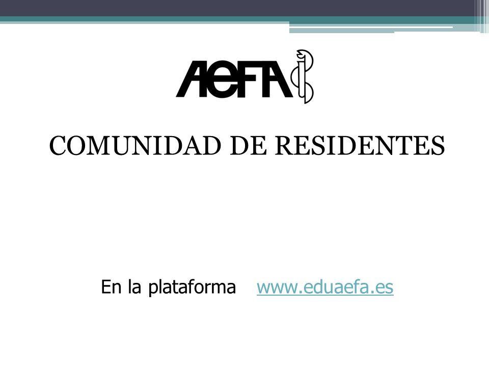 COMUNIDAD DE RESIDENTES