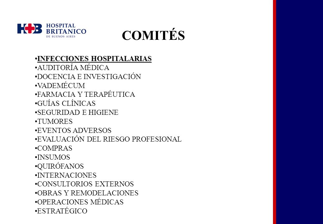 COMITÉS INFECCIONES HOSPITALARIAS AUDITORÍA MÉDICA