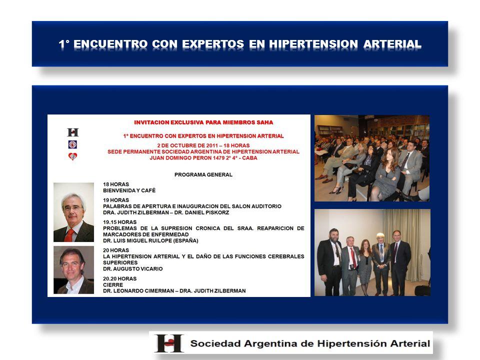 1° ENCUENTRO CON EXPERTOS EN HIPERTENSION ARTERIAL