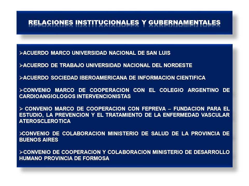 RELACIONES INSTITUCIONALES Y GUBERNAMENTALES