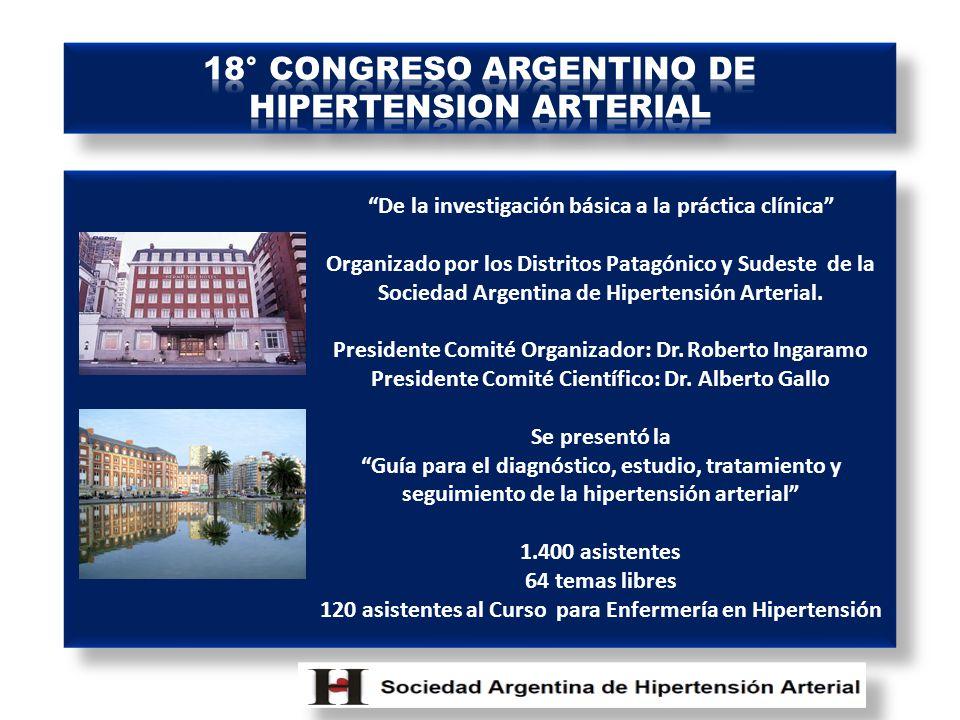 18° CONGRESO ARGENTINO DE HIPERTENSION ARTERIAL