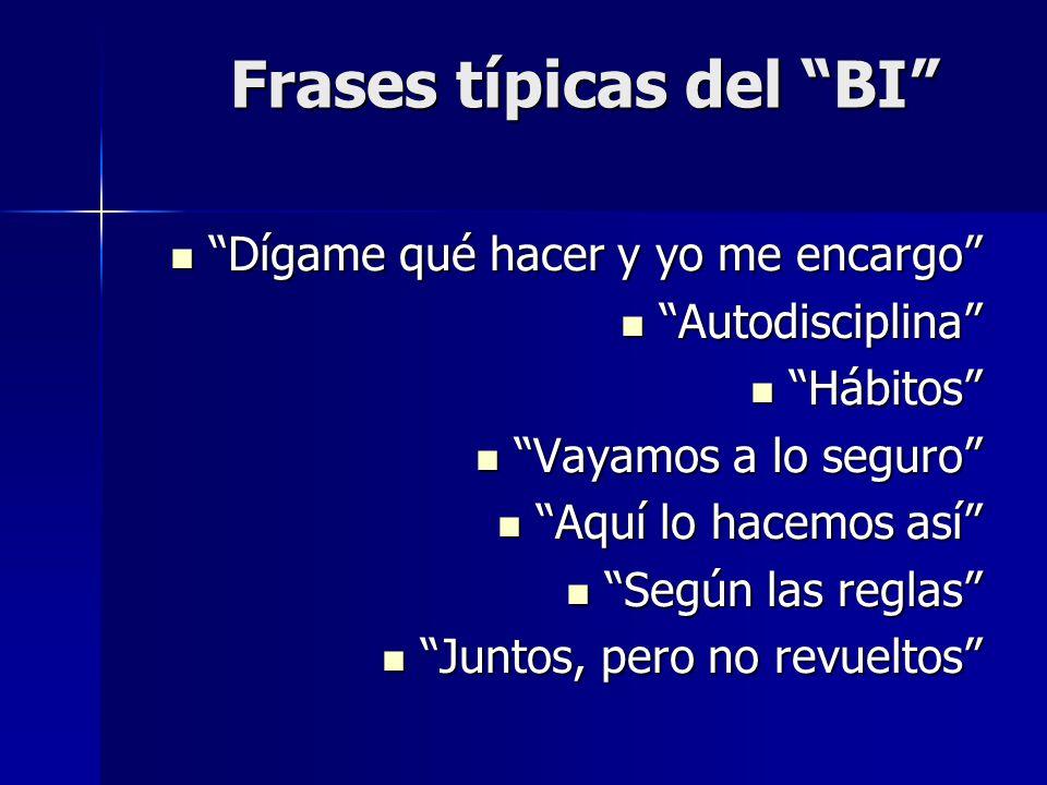 Frases típicas del BI
