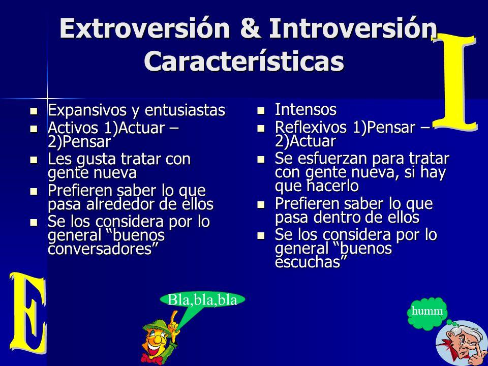 Extroversión & Introversión Características