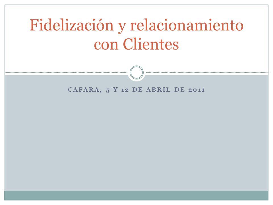 Fidelización y relacionamiento con Clientes