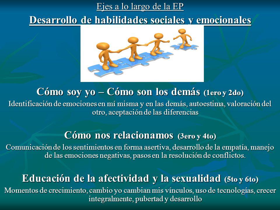 Desarrollo de habilidades sociales y emocionales