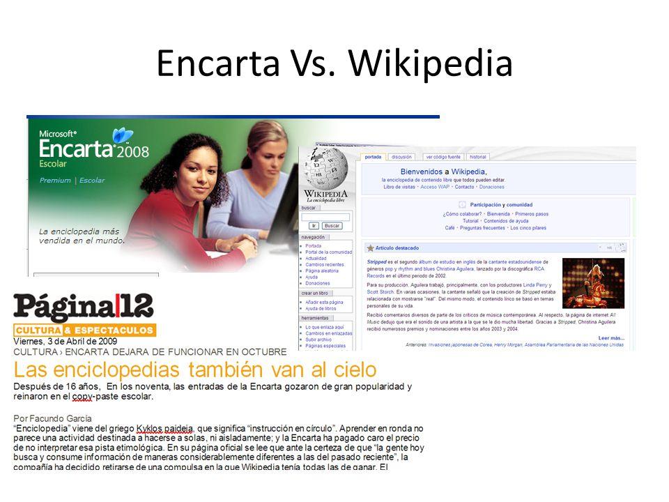 Encarta Vs. Wikipedia