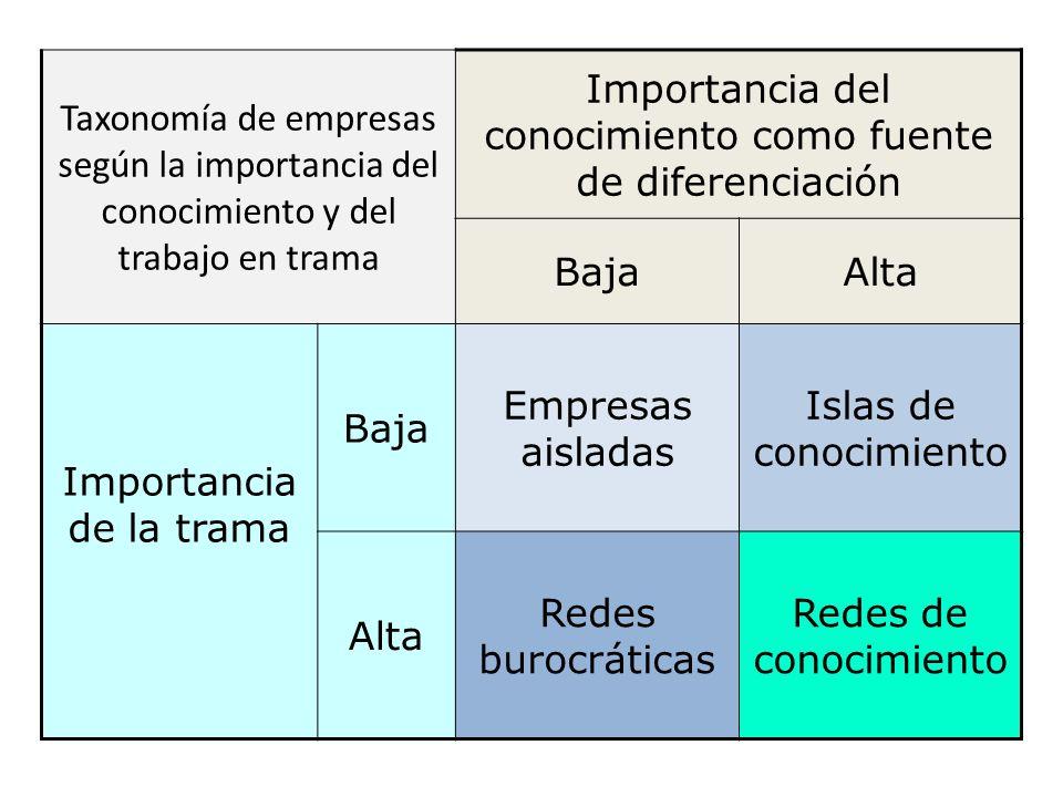 Importancia del conocimiento como fuente de diferenciación