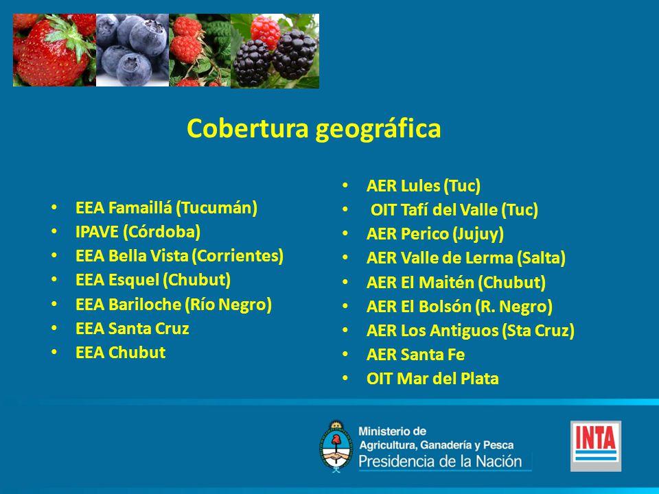 Cobertura geográfica AER Lules (Tuc) OIT Tafí del Valle (Tuc)