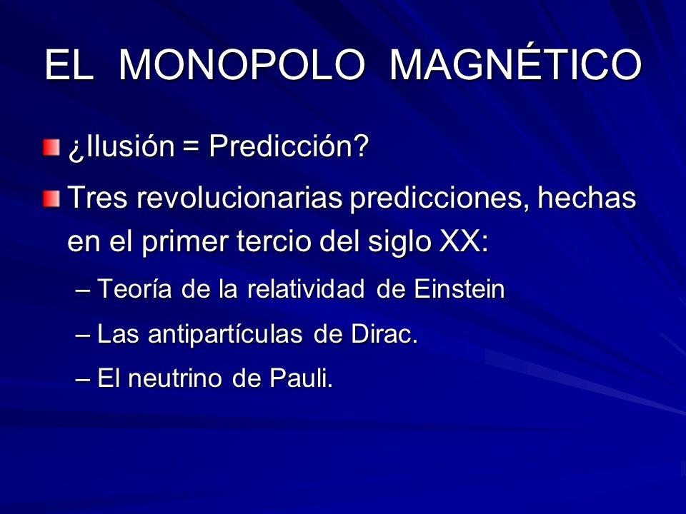 EL MONOPOLO MAGNÉTICO ¿Ilusión = Predicción