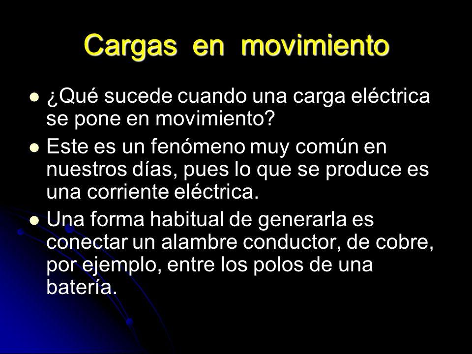 Cargas en movimiento ¿Qué sucede cuando una carga eléctrica se pone en movimiento