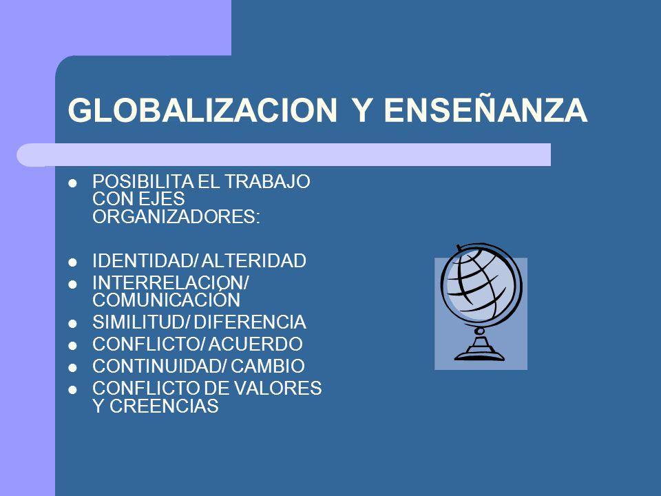 GLOBALIZACION Y ENSEÑANZA