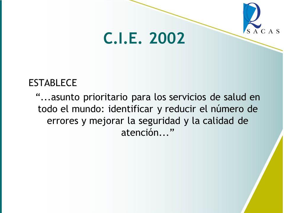C.I.E. 2002 ESTABLECE.
