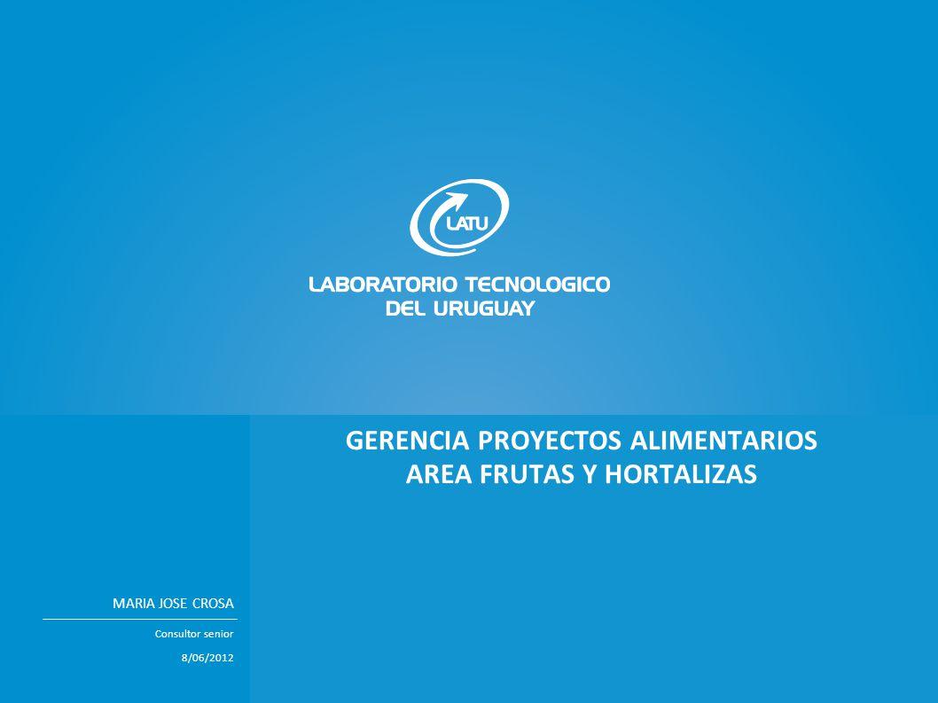 GERENCIA PROYECTOS ALIMENTARIOS AREA FRUTAS Y HORTALIZAS