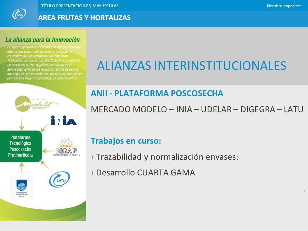 ALIANZAS INTERINSTITUCIONALES