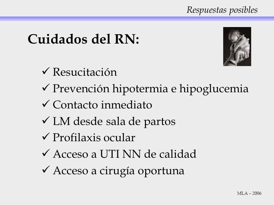 Cuidados del RN: Resucitación Prevención hipotermia e hipoglucemia