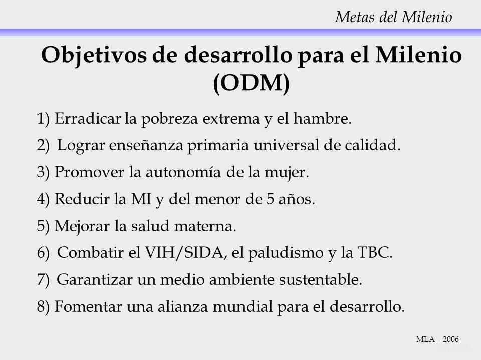 Objetivos de desarrollo para el Milenio (ODM)