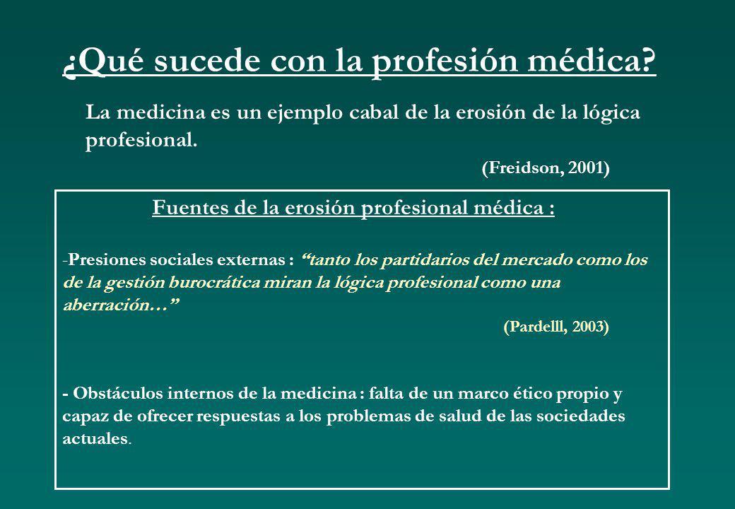 ¿Qué sucede con la profesión médica