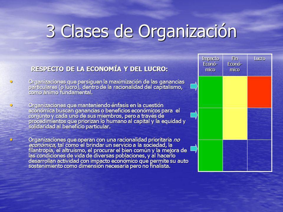 3 Clases de Organización