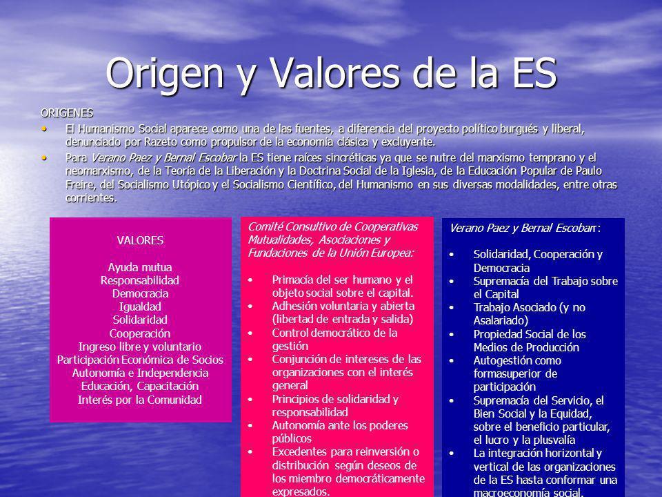 Origen y Valores de la ES