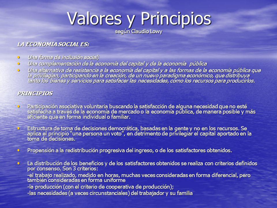 Valores y Principios según Claudio Lowy