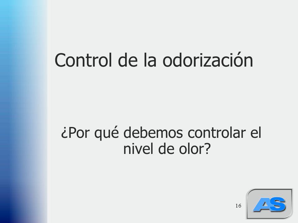 Control de la odorización