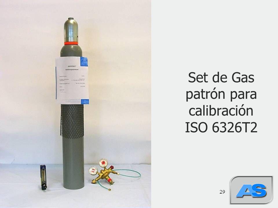 Set de Gas patrón para calibración ISO 6326T2