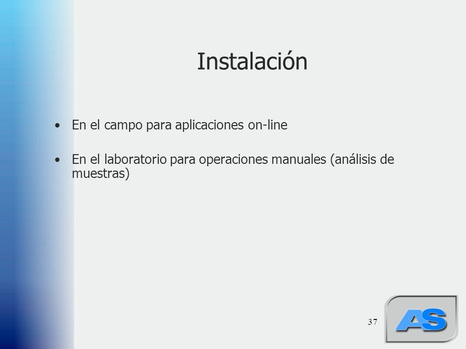 Instalación En el campo para aplicaciones on-line