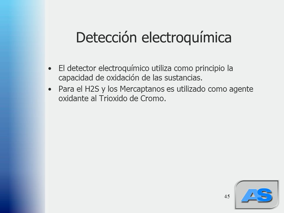 Detección electroquímica