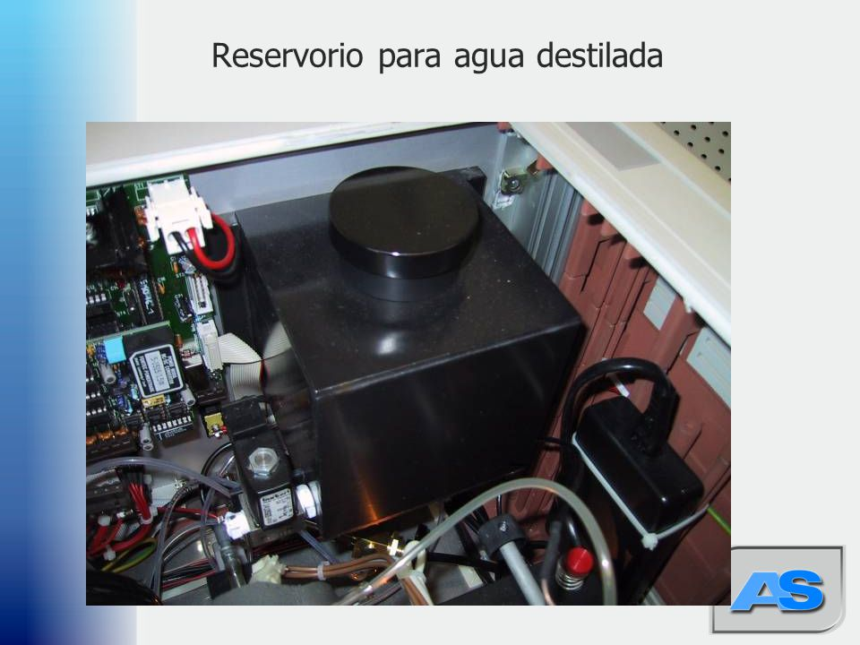 Reservorio para agua destilada
