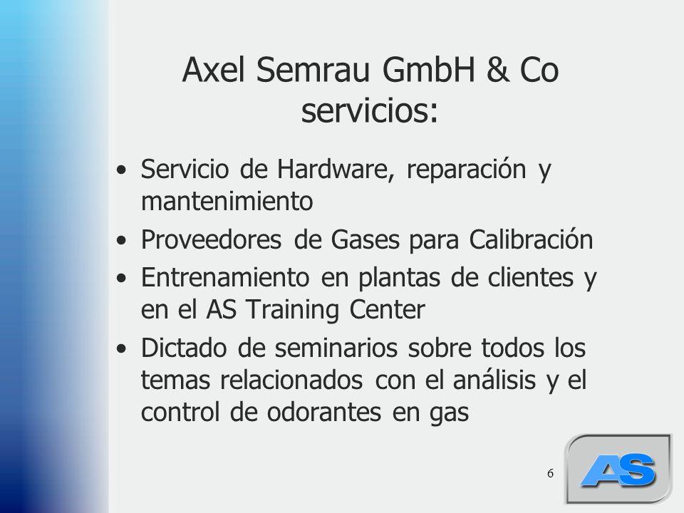Axel Semrau GmbH & Co servicios: