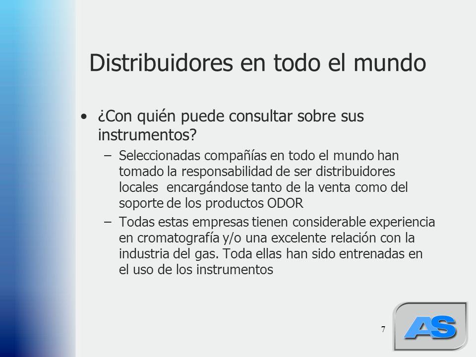 Distribuidores en todo el mundo