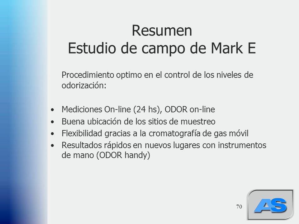 Resumen Estudio de campo de Mark E