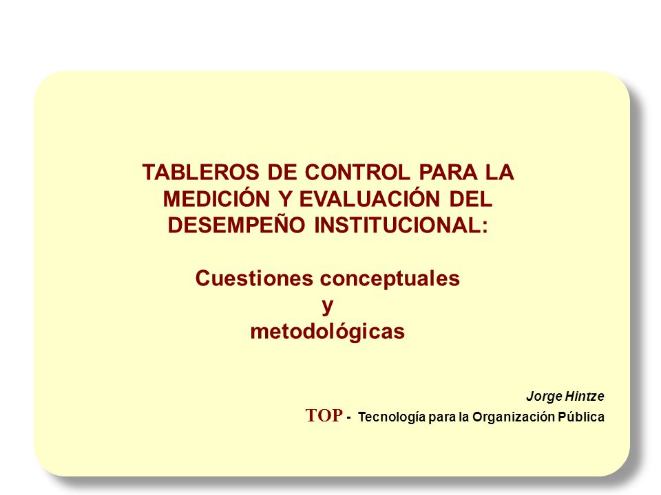 Cuestiones conceptuales y metodológicas
