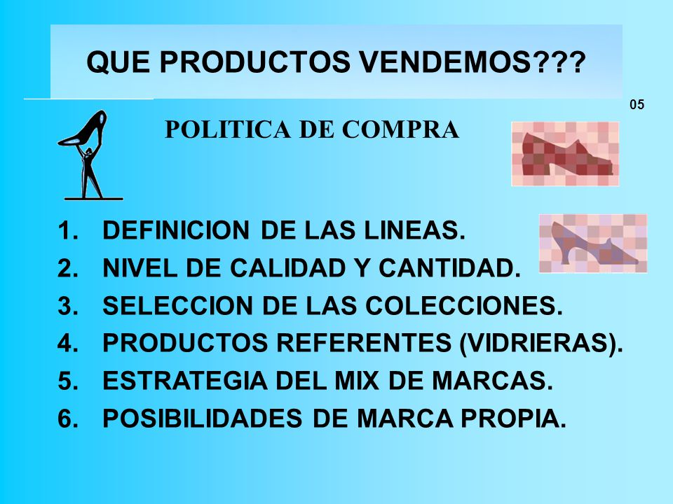 QUE PRODUCTOS VENDEMOS