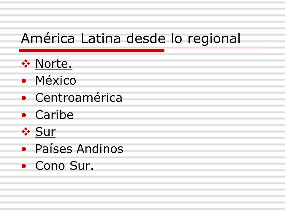 América Latina desde lo regional
