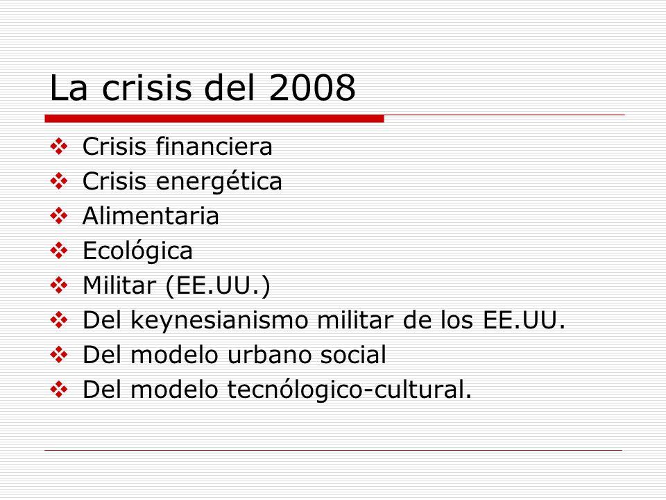 La crisis del 2008 Crisis financiera Crisis energética Alimentaria