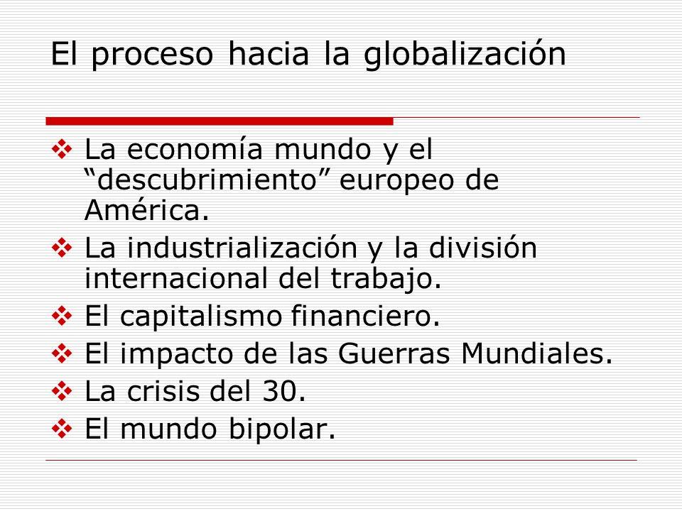 El proceso hacia la globalización