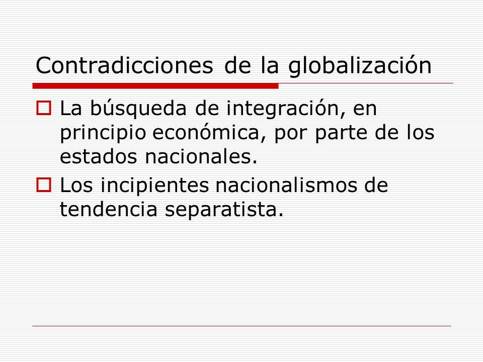 Contradicciones de la globalización