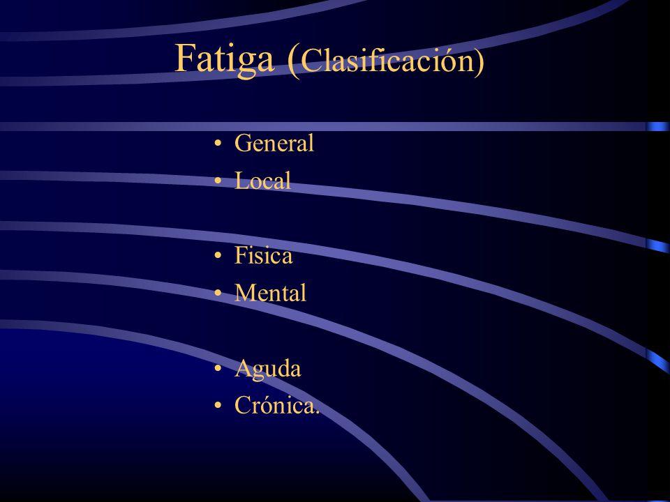 Fatiga (Clasificación)