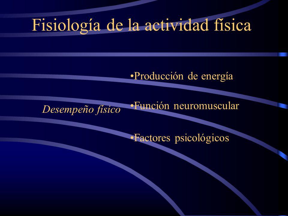 Fisiología de la actividad física