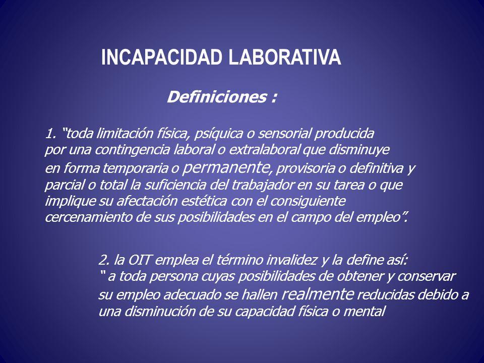 INCAPACIDAD LABORATIVA