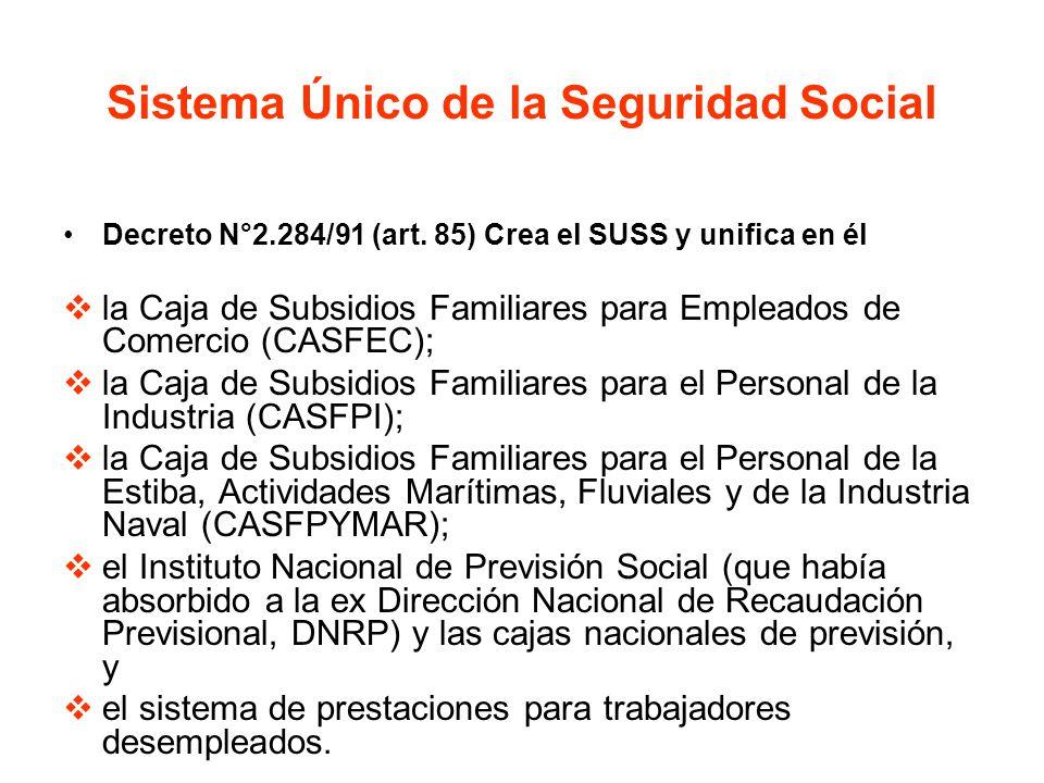 Sistema Único de la Seguridad Social
