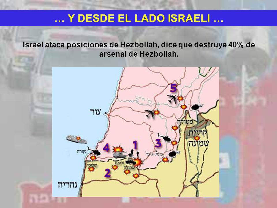 … Y DESDE EL LADO ISRAELI …