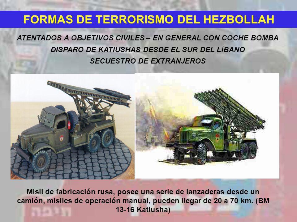 FORMAS DE TERRORISMO DEL HEZBOLLAH